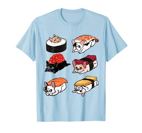 Sushi French Bulldog Funny T- shirt by Huebucket