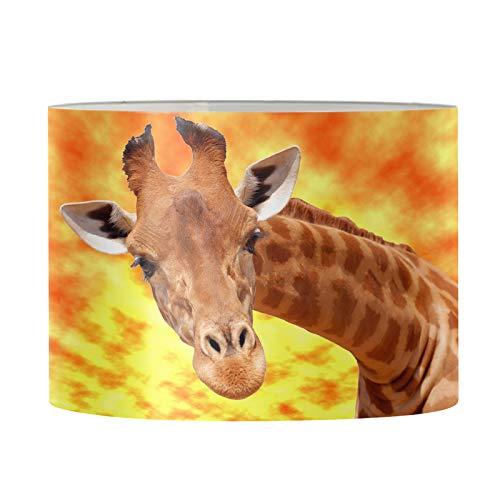 Coloranimal Encantadora jirafa Animal Print Lámparas de piso duraderas y ligeras lámpara de mesa de repuesto para el hogar, habitación, escritorio, mesita de noche, lámparas-L