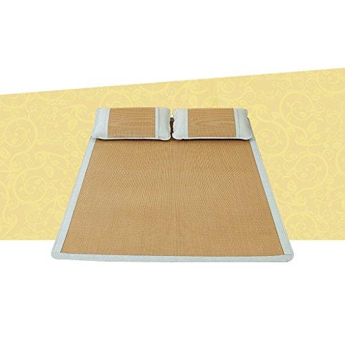 Tapis de sol en rotin 1,2 M Lit simple 0,9 Dortoir des étudiants 0,8 Pliable 1m Bambou Été 1,5 Tapis de paille de soie en glace frais sans rouille lisse sans flocage peut être plié sans odeur (sans ta