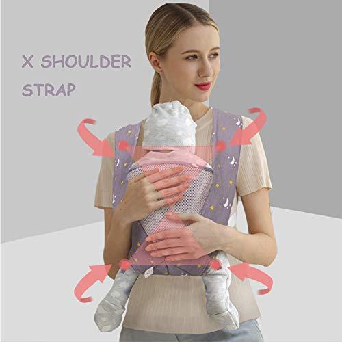 Yuzhijie bebé correa de viaje ligero y ahorro de mano de obra toalla de espalda X-tipo mochila para niños bebé sosteniendo cinturón alargamiento simple correa, Púrpura
