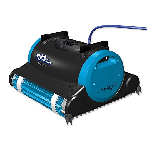 Dolphin Nautilus Automatic Robotic Pool Cleaner with Dual Filter Cartridges, Two Scrubbing Brushes...