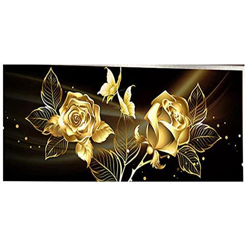 Bricolaje Pintura Diamante 5D Rosa,Diamond Painting by Number Kits Large Full Drill Rhinestone bordado punto de cruz Art Craft para la decoración de la Pared del hogar Gifts B1033 Round_Drill_70x200cm