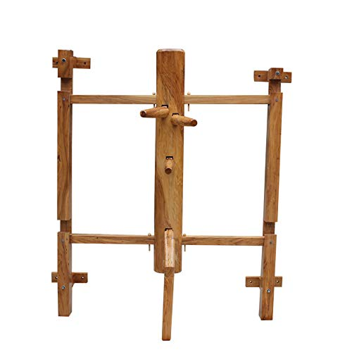 Wing Chun Holzpuppe, mit großer Rahmen und hölzerne Attrappe Mit Elm, Live-Stapel, Kampfsport-Liebhaber,160cm