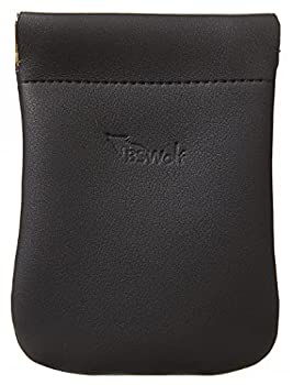BSWolf Squeeze Coin Purse Pouch Change Purse Slim Front Pocket Minmalist Wallet For Men & Women Black
