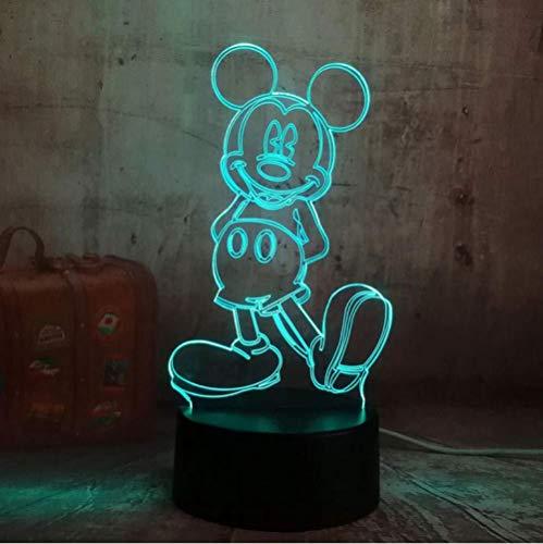 Bande dessinée Led Lampe De Nuit Mickey Mouse Décoratif Lumière Chambre Décor Enfants Enfants Bébé Cadeaux 7 Changement de Couleur Mickey Veilleuse