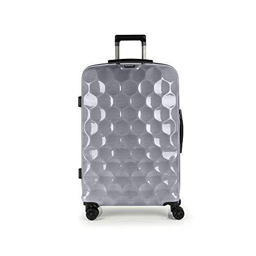 Gabol - Air | Maletas de Viaje Grandes Rigidas de 49 x 75 x 27 cm con Capacidad para 85 L de Color Plata