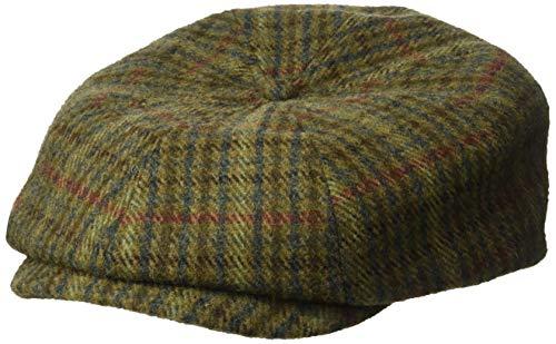 BRIXTON Herren Brood Newsboy Snap Hat Kappe, Moos/Marineblau, MEDIUM
