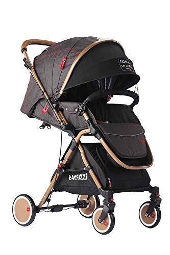 Baciuzzi, passeggino pieghevole con seduta alta e manico reversibile per seduta fronte mamma, completo di accessori e borsa coordinata, Verso Coupè, Tango