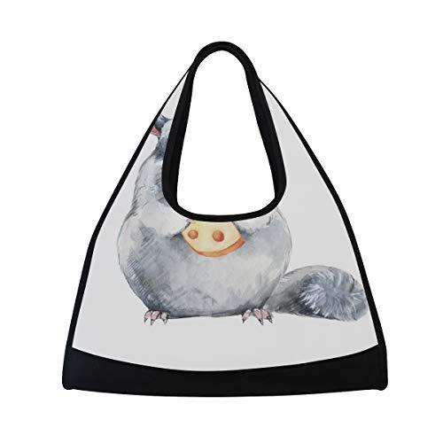TIZORAX Totoro Bolsa de viaje Bolsa de deporte Gimnasio Bolsa de hombro