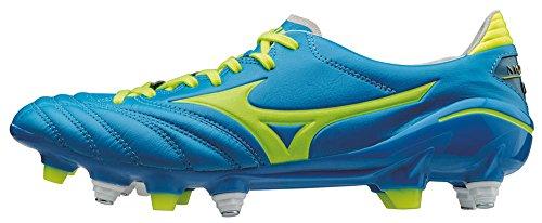 Mizuno Morelia Neo Mix, Botas de fútbol para Hombre, BLU (Diva Blue/Safety Yellow), 42 EU