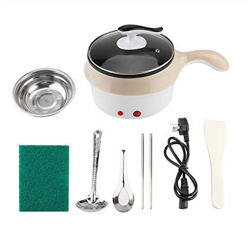 Padella Elettrica Mini Alta qualità dormitorio pentola/Padella elettrica Padella Wok Cottura Noodle pentola Cachi 220v per Studente