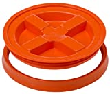Gamma Seals Airtight & Leakproof Lid for 3.5 to 7 Gallon Buckets, Orange (4124)