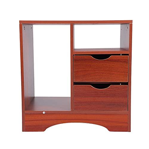BESPORTBLE Simple Wooden Beside Gabinete de la Cama Almacenamiento de la Cama Noche Dormitorio Dormitorio...