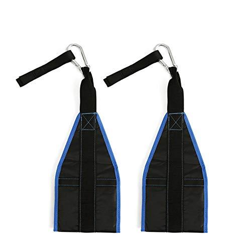Aufgehängter Spanngurt, Gepolsterter Anti-Riss, 2 Verstellbare Griffe, Für Klimmzüge Für Das Bauchtraining Von Männern Und Frauen,Blau