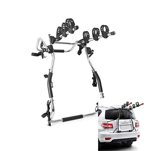 LJIANW Bike Rack Car Trunk Or Hitch Carrier Thicken Material Strong Bearing Capacity Rear-mounted Bike Rack, Mount 1-3 Bicycles, 4 Styles (Color : Black-D, Size : 62x21x93cm)