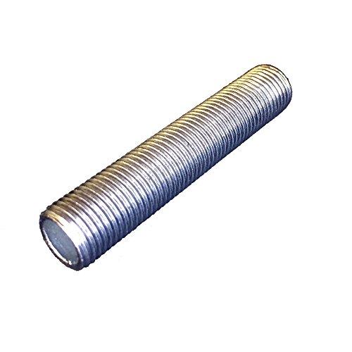 FE Gewinderohr M10x1 x 100mm verzinkt Lampenrohr Anschlussrohr Stahlrohr mit Rohr-Gewinde Feingewinde 3 Stück