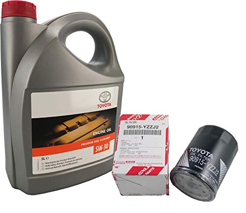 Toyota Pack Duo Original 5 liter motorolie 5W30 synthetisch PFE 08880-83389 C2 oliefilter 90915-YZJ2