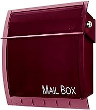 icon (アイコン) カルヴァ 郵便ポスト 壁掛け シースルータイプ 鍵付き おしゃれ ポスト 郵便受け ボルドー