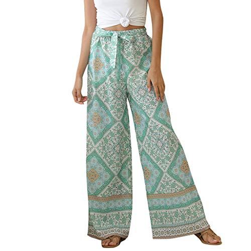 QueenMM Women's Casual Wide Leg Palazzo Lounge Pants Plus Size Tie Dye Palazzo Pants