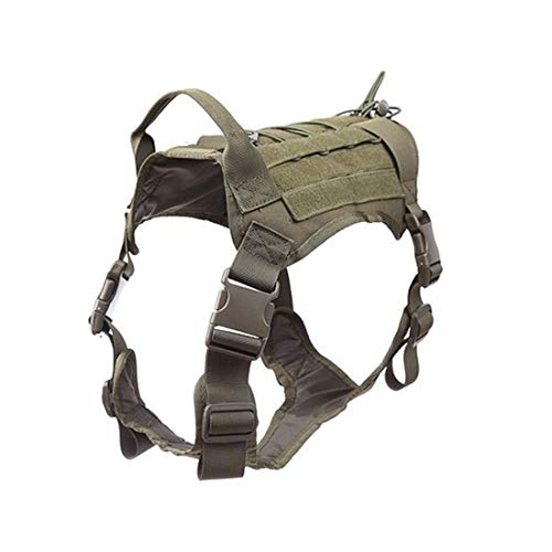 KYHSYoung Medium and Large Dogs Dog Clothes Outdoor Tactical Vest Sling Camouflage Dog Vest Tactical Dog Clothing (XL,Military Color)