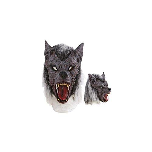 P'tit Clown- Masque adulte latex intégral loup garou, Unisex, 10178, Taille Unique
