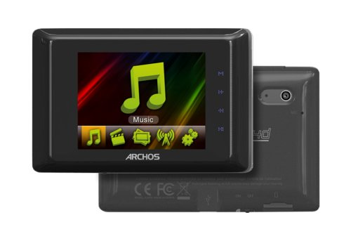 Archos 24d Vision Tragbarer MP4 Player 4GB (6,1 cm (2,4 Zoll) TFT QVGA, MP3/FM, 0,3 Megapixel Kamera, USB 2.0) schwarz