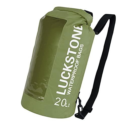 Bolsa impermeable, para teléfono móvil y para la playa, para documentos, canoa, remo, senderismo, kayak, buceo, barco hinchable, pesca, natación, rafting, vela, 20 L
