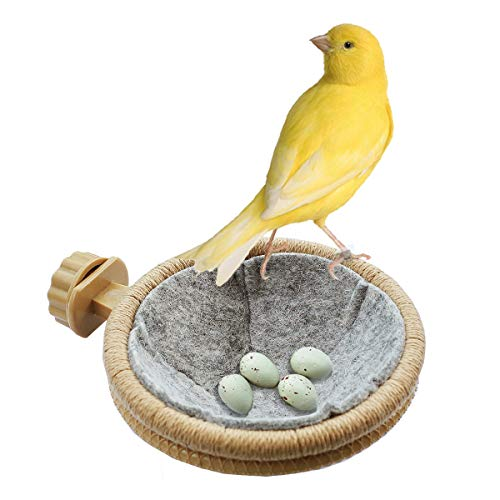 FOIBURELY Bird Nest Canary Finch Parrot Nest with Felt(4.5 inches)