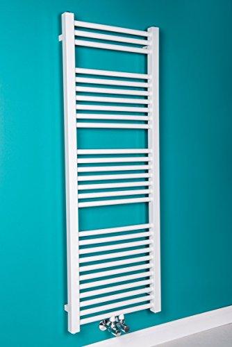 Handtuchheizkörper Badheizkörper Handtuchwärmer 1400x500mm Weiß gerade