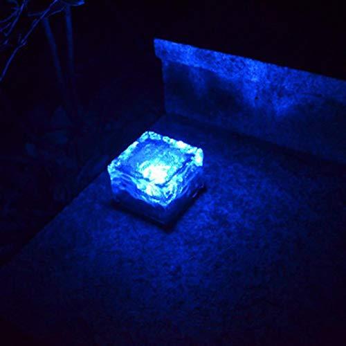 GUIMEI LuzSolar Creativa de labaldosa de Cristal del jardín al Aire Libre Luz del césped a Prueba de Lluvia Luz Decorativa enterrada