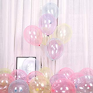 Crystal Pastel Balloon 12 inch 100pcs Latex Transparent Party Balloon Helium Clear Balloon Birthday Baby Shower Balloons