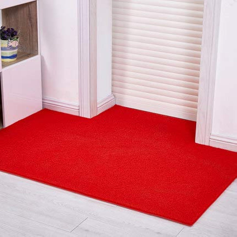 Doormat,Entrance Doormat Anti-skidding Waterproof Home Decor-red 60x80cm(24x31inch)