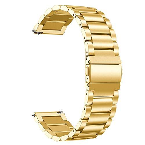 Correa de acero inoxidable de 20 mm de ancho para Samsung Gear Sport Watch Correa de metal con hebilla de mariposa clásica correa de reloj