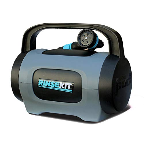 Rinse Kit POD Portable Outdoor Shower Black + Grey 1.75 Gallon
