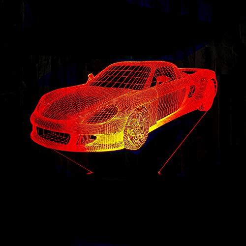 BFMBCHDJ Lampada a LED per auto 3D a 7 colori che cambiano a LED Luminaria Night Light Lampada da illusione 3D a luce per camera da letto per regalo giocattolo per bambini