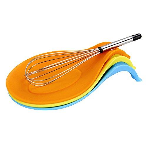 1 repose-cuillère en silicone de qualité alimentaire résistant à la chaleur, passe au lave-vaisselle