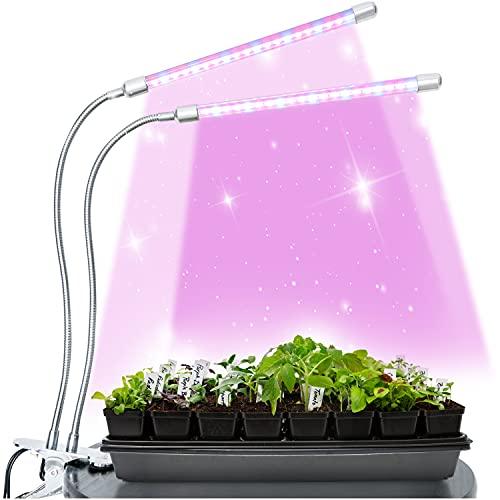 Brite Labs LED Pflanzenlampe für Zimmerpflanzen - Pflanzenlicht LED Grow Light - Pflanzenlampe LED Grow Lampe - UV Lampe Pflanzen LED - Pflanzen Lampe Klein LED Vollspektrum - Pflanzenbeleuchtung