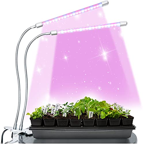 Brite Labs Lámpara de Planta - LED Grow Light - Lamparas LED Cultivo Interior - Lámpara de Cultivo Bombilla Crecimiento y Floracion - Iluminación para Plantas con Temporizador Automático 3H/6H/12H