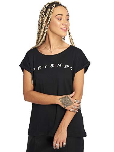 MERCHCODE Camiseta para Mujer con Logotipo de Friends, Color Negro, M