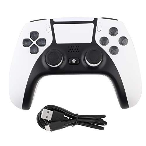 Controller PS4, DC 5 V, controller per gamepad PS4, senza fili, Bluetooth 4.0, schermo touch a doppia vibrazione, per Android, host PS4, computer PC, colore: bianco