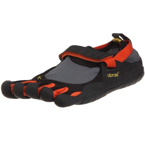 Vibram Five Fingers Multisport M1483 KSO, Zapatillas de Deporte Hombre, Negro/Naranja, EU 46