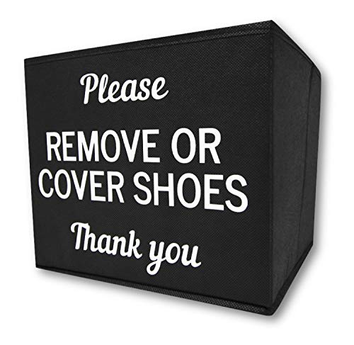 RE GOODS Shoe Covers Box   Disposable Shoe Bootie Holder For Realtor Listings and Open Houses   Please Cover or Remove Shoes Bin   Shoe Bootie Box