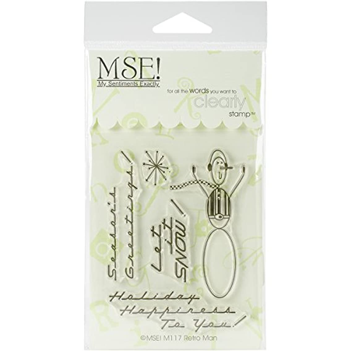 MSE M117 Clear Stamps 3 x 4 in. Sheet - Retro Sno - Man
