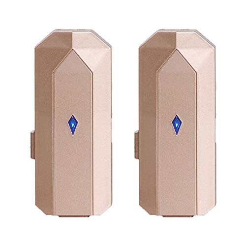 SNOWINSPRING 2PCS Personal Wearable Air Purifier Necklace Portable Air Freshner Negative Ion Generator for Adults Kids Gold