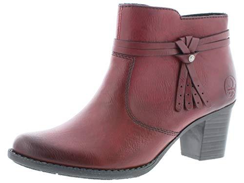 Rieker Damen Stiefeletten L7664, Frauen Ankle Boots, Frauen weibliche Lady Ladies feminin elegant Women's Women Woman leger,Wine,39 EU / 6 UK
