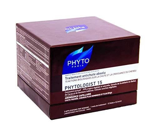 Phyto - Phytologist 15 - 12 Ampullen à 3,5 ml - Intensive 2-Monats-Behandlung gegen Haarausfall
