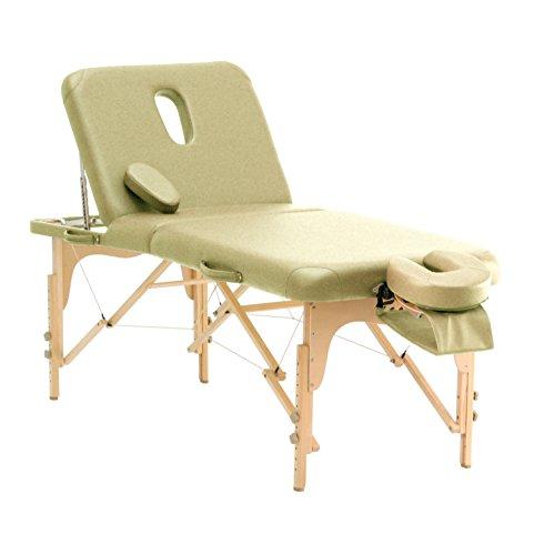Massageliege TAOline »Salon II«, beige, mobil, höhenverstellbar, Rückenteil verstellbar, mit Gesichtsauschnitt & verstellbarer Kopfstütze, Armschlaufe & Tragetasche