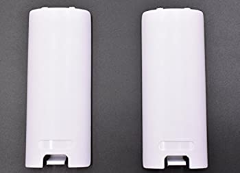 2 Pack of Replacement Battery Back Door Cover Shell for Nintendo Wii Remote Controller  White