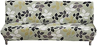 FORCHEER Sofa Bed Cover Armless Stretch Sofa Slipcovers 3 Seater Loveseat Fitted Couch Cover Pattern(160-190CM,63-74inches)