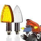 CCAUTOVIE 2pcs Intermitentes Moto LED,Intermitente Moto E-24 Homologado Ámbar 12V Universales Motocicleta Luces Indicator